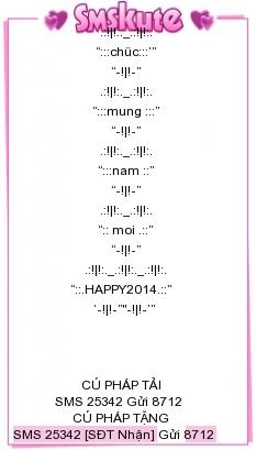Tin Nhắn Chúc Tết 2014 Mau 3