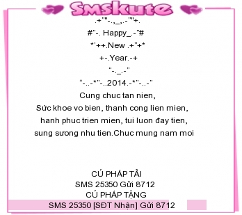 Tin Nhắn Chúc Tết 2014 Mau 7